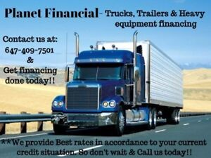 WANT TRUCKS, TRAILERS OR HEAVY EQUIPMENT FINANCING AND LEASING!!
