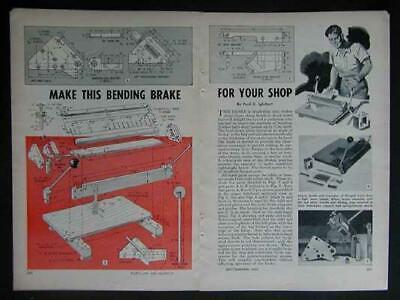 17 Sheet Metal Brake Howto Build Plans Easybuild Handy