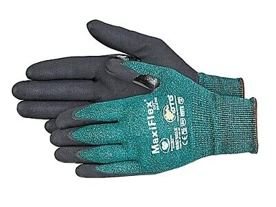 6 Pairsmaxiflex 34-8743 Medium Cut Resistant Gloves Green