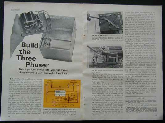 3 Phase CONVERTOR 230 Volts 1-3hp How-To build PLANS
