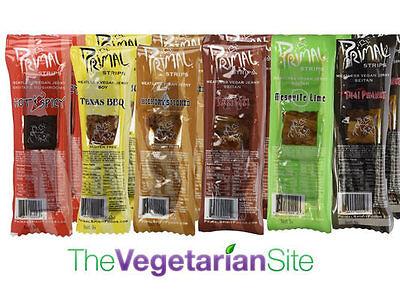 Fresh Stock:12 Primal Strips 1-oz Meatless Vegan Jerky Variety Gift Pack Sampler