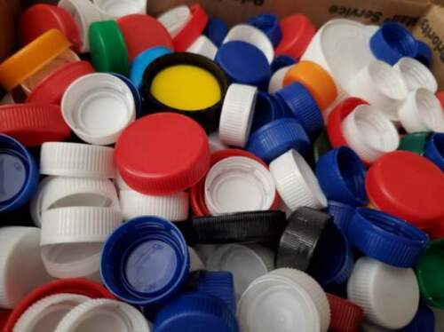 PLASTIC CAPS-Assorted Colors Arts & Craft Supplies Recycled Lids ColoredProject