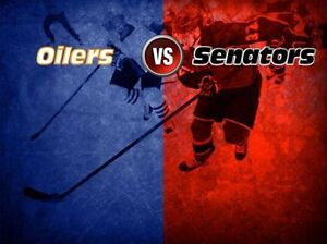 Ottawa Senators vs Edmonton Oilers, Oct 30 @7:00pm