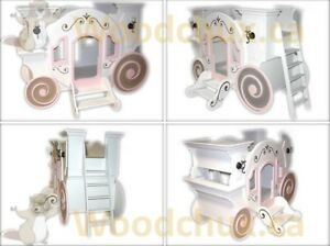 CINDERELLA CARRIAGE Twin Size Bunk Bed . . ♥‿♥