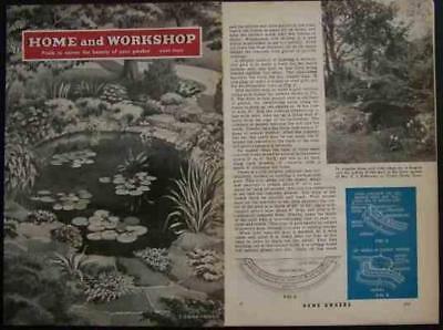 Garden FISH PONDS Backyard 1941 HowTo INFO Save$