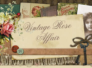 Shabby Vtg Chic Victorian Pink Roses Floral  Boutique Ebay Auction Template IMCC