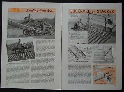 Buckrake Built From Woodmetal Frame And Auto Parts How-to Build Plans