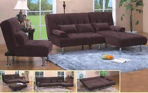 NO TAX SOFA BED,EXTRA CHAIR AND LEG TABLE ALL FOR 699$ ONLY...5 COLORS TO CHOOSE