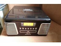 Steepletone Record Player Roxy 2.Record player,CD and Radio with remote and original manual
