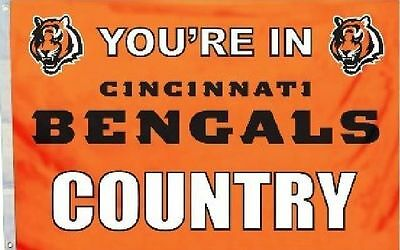 YOU'RE IN CINCINNATI BENGALS COUNTRY NEW 3x5 ft nfl FLAG au
