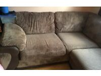 DFS jumbo cord corner sofa bed