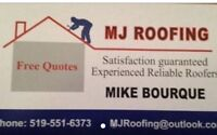 MJ ROOFING Experienced reliable roofers 519-551-6373 FREE QUOTES