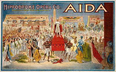 TH16 Vintage Aida Opera Theatre Poster Print A1 A2 A3