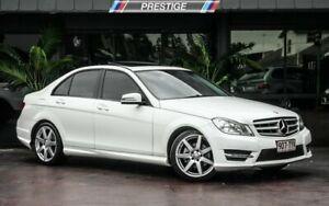 2014 Mercedes-Benz C200 W204 MY14 White 7 Speed Automatic G-Tronic Sedan Bowen Hills Brisbane North East Preview