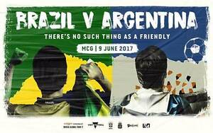 2 x PLATINUM (HARD COPY) Tickets Brazil Vs Argentina - June 9 MCG Sydney City Inner Sydney Preview
