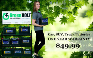 Car, SUV, Truck Batteries  $49.99 - ONE YEAR WARRANTY