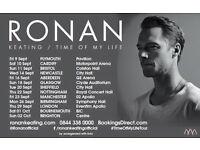 1 x 3rd row FRONT STALLS Ronan Keating ticket Nottingham 22.9.16 .16