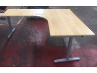 Large corner-fitting office desk in good condition, extension (5)