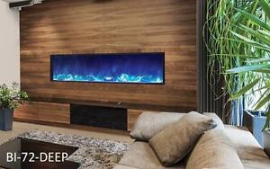 "Amantii indoor/outdoor 40, 50, 60 72 and 88"" Panorama Series - Slim 6"" or Deep 12"" Electric Fireplace"