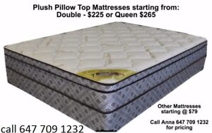 QUEEN AND DOUBLE PILLOW TOP BOX AND MATTRESS