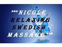 * NICOLE RELAXING SWEDISH MASSAGE *
