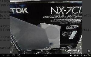 TDK2.1 CH. CD MICRO HI-FI SYSTEM(NX-7CD (CD + MP3 + USB + SD