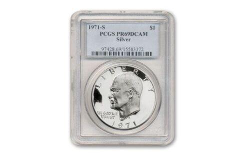 1971-S Silver Ike Dollar $1 Eisenhower PR-69  DCAM P.C.G.S.