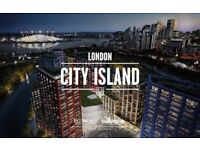 1 Bedroom/studio flat for sale on London City Island, ready in August 2018