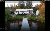 Camper/Boat/Dock/Shed/more on a LAKE FRONT leased lot