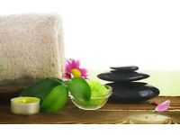 Massage therapist and beautician offering many treatments