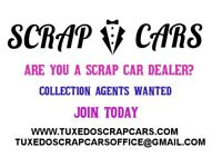 Scrap my car become an agent today at tuxedo scrap cars and receive leads from customers.
