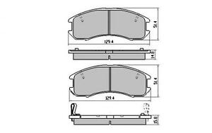FRONT BRAKE PADS FORD TELSTAR TX5 AT AV MAZDA 626 GD GV MX-6 DB1114