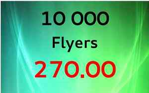 10,000 Flyers for only $ 270.00 Shipping included UPS