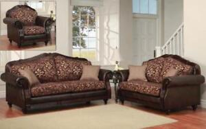 PRINTED FABRIC SOFA SET SALE (ND 94)