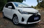 2016 Toyota Yaris NCP130R MY15 Ascent White 4 Speed Automatic Hatchback Kenwick Gosnells Area Preview