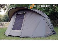 Brand New From Factory Cyprinus 1 Man Base Bivvy &a Overwrap Combo