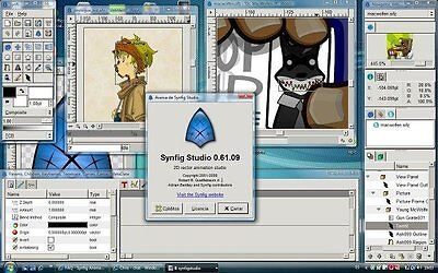 Synfig (2D Cartoon Animation Studio Software) Windows/Mac CD for sale  USA