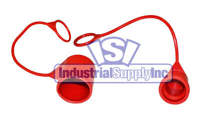 Quick Coupler Iso 16028 Flat Face 12 Dust Cap Set Red 1 Pair