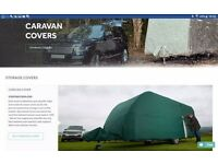 Specialised caravan cover and canopy