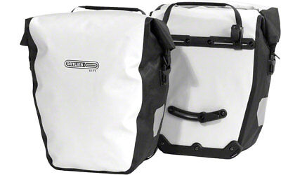 - New Ortlieb Back-Roller City Rear Pannier: Pair WhiteBlack Road Touring Bike