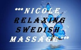 *** NICOLE RELAXING SWEDISH MASSAGE IN CARDIFF CENTRE ***