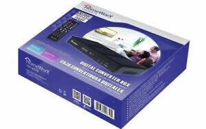 HOMEWORX HW180STB DIGITAL TO ANALOG CONVERTER ATSC TUNER CONVERTS YOUR ANALOG TV IN TO DIGITAL TV