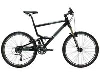 full suspension cannondale mountain bike frame and 29 inch hardtail fuji