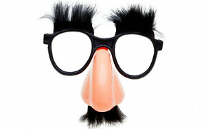 GROUCHO DISGUISE MOUSTACHE GLASSES SPECS FANCY DRESS FUNNY TOY FUNNY HEN NOSE