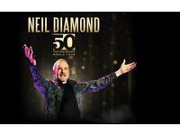 2 x Neil Diamond tickets, 50th anniversary tour. Belfast SSE Arena EXCELLENT SEATS
