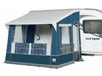 Dorema Quattro 275 Caravan Porch Awning (blue) plus Flooring. Barely used.