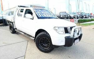2010 Nissan Navara D40 MY10 ST-X White 6 Speed Manual Utility Woodridge Logan Area Preview