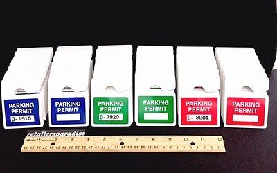Lot Of Professional Parking Permits Use W A Permit Only Sign Mirror Hang Tags