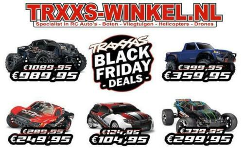 TRAXXAS BLACK FRIDAY deals bij TRXXS