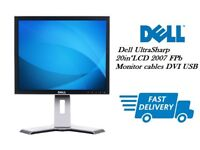 """Cheap Best Deal TFT LCD Dell UltraSharp 20in""""LCD 2007 FPb Monitor cables DVI USB"""